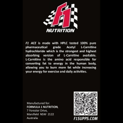 F1 Nutrition Acetyl L-Carnitine All Natural